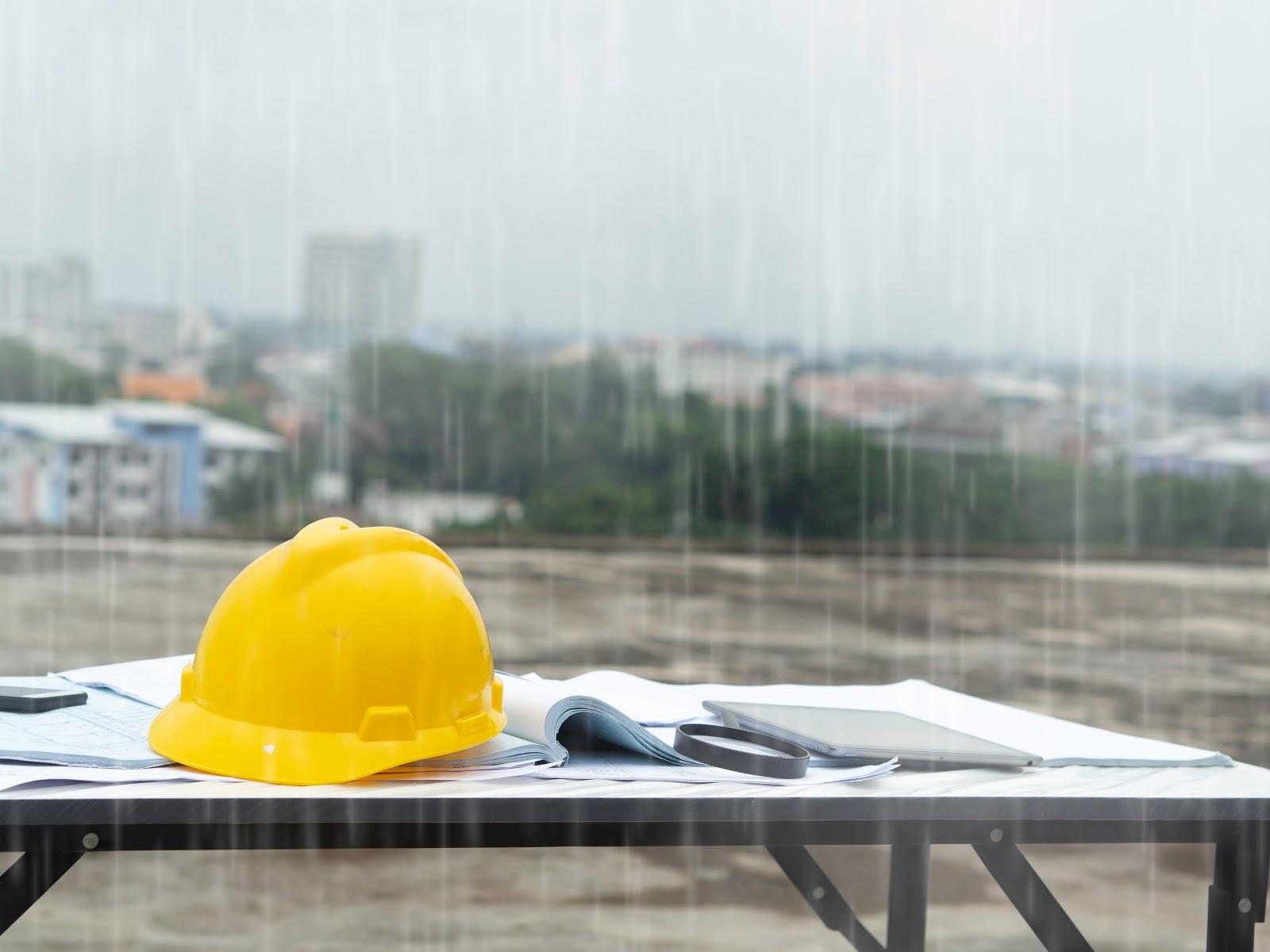 raining wet weather construction diy