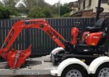 The mini 1-tonne excavator exclusive